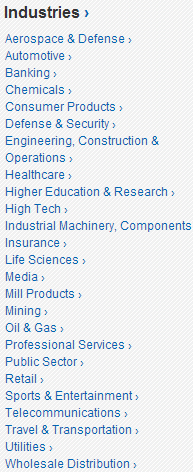 IndustryCategories
