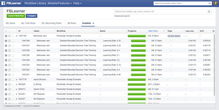 FB Workflow-Run-List